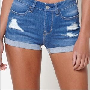 PacSun Stretch Denim Shortie Shorts